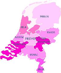 borstkanker landkaart